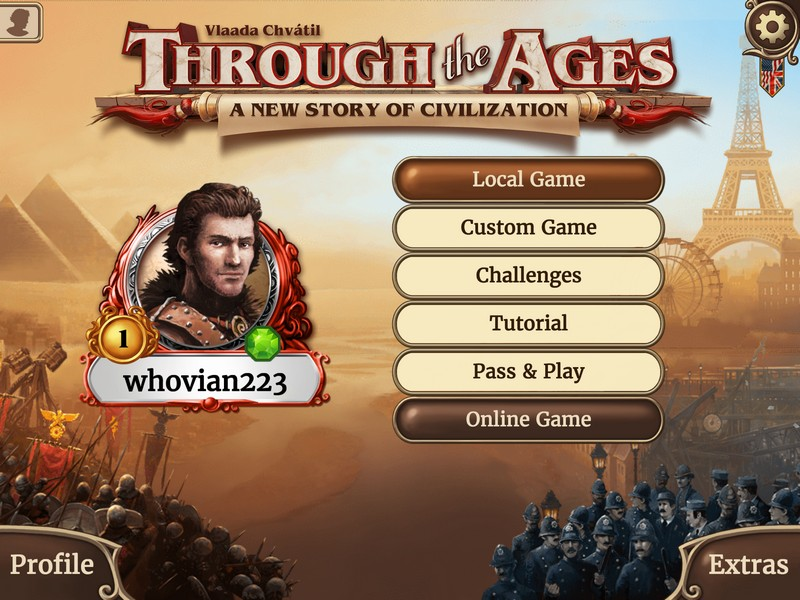 Through the Ages title screen
