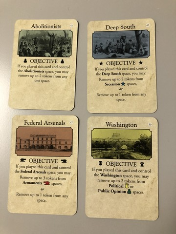 Fort Sumter - Objective Cards