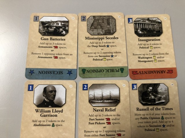 Fort Sumter - Strategy Cards