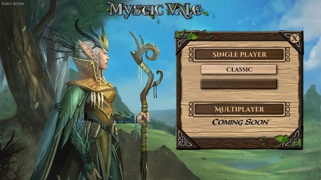 Mystic Vale - Menu