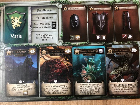 Nocturion - Player Board full