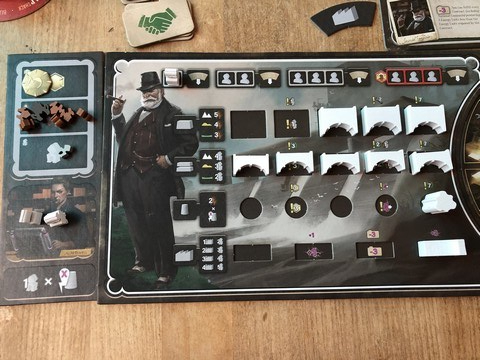 Barrage - Player Board in use