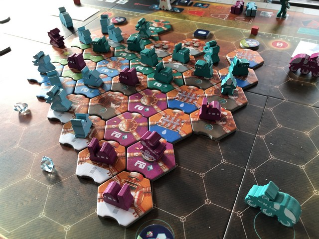 On Mars - Endgame Board Close