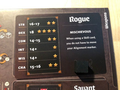 Roll Player - Rogue card
