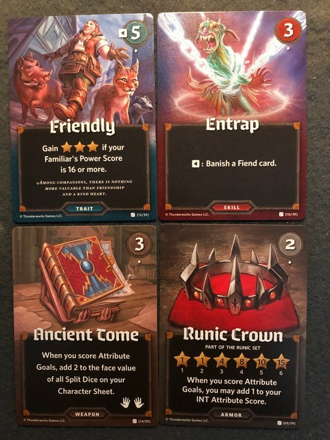 Roll Player - Fiends & Familiars Market Cards