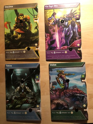 Shards of Infinity - Character Cards