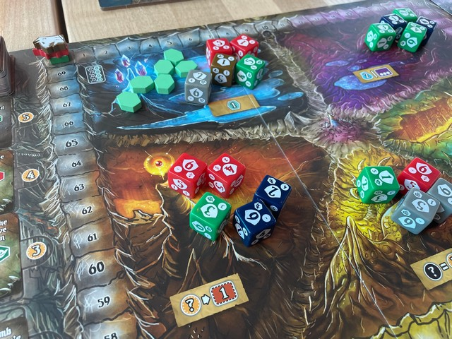 Dice! Dice! Lots of colorful dice! Shadow Kingdoms of Valeria