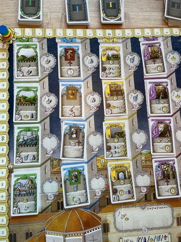 Lots of cards, though I know at first glance they mean nothing. Lorenzo il Magnifico